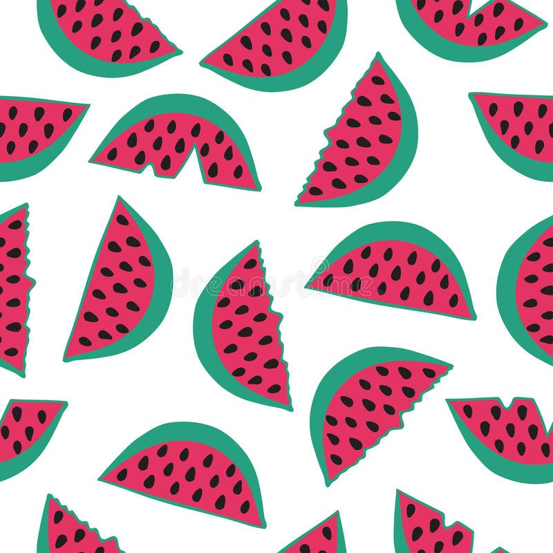 Seamless pattern with watermelon. vector illustration