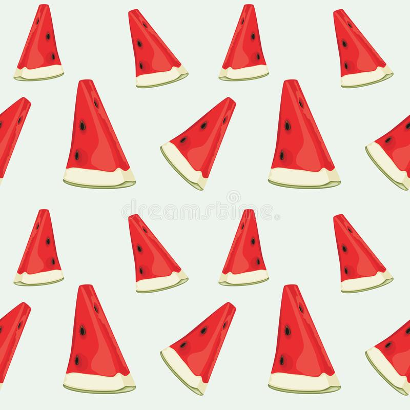 Seamless pattern with watermelon slices stock image