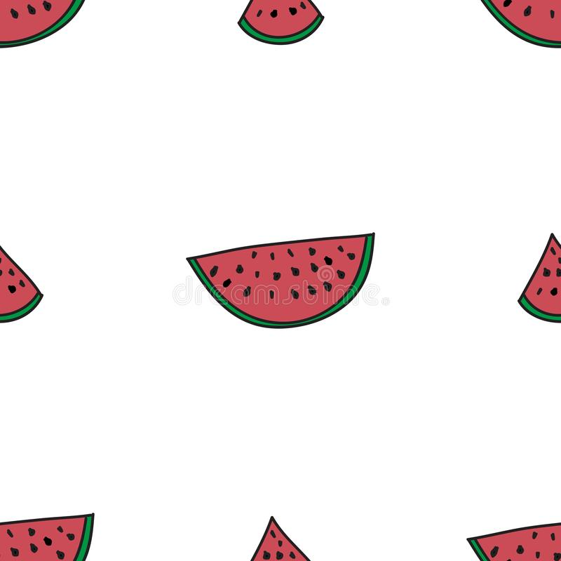 Seamless Pattern Watermelon On White Background Abstract Colorful