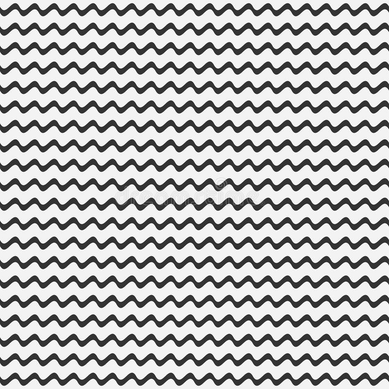 Seamless pattern of wave lines. Vector background. stock illustration
