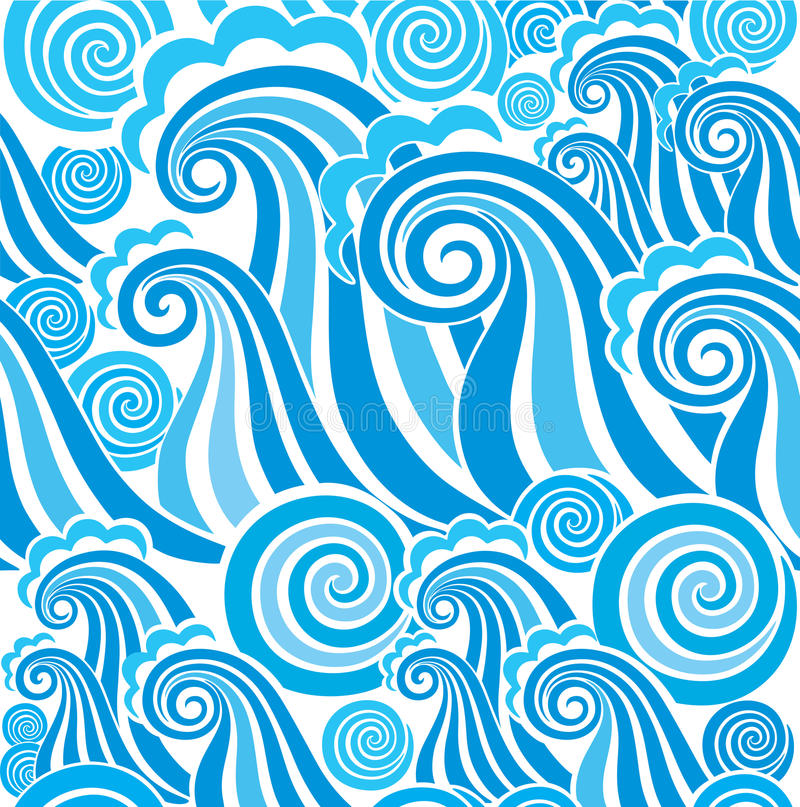 Seamless pattern with waves. Image for your design vector illustration