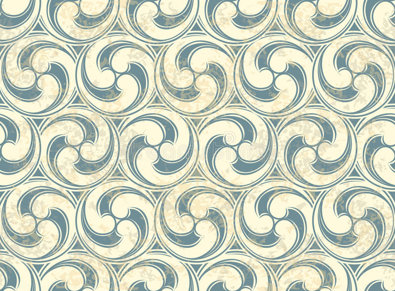 Seamless pattern with waves vector illustration