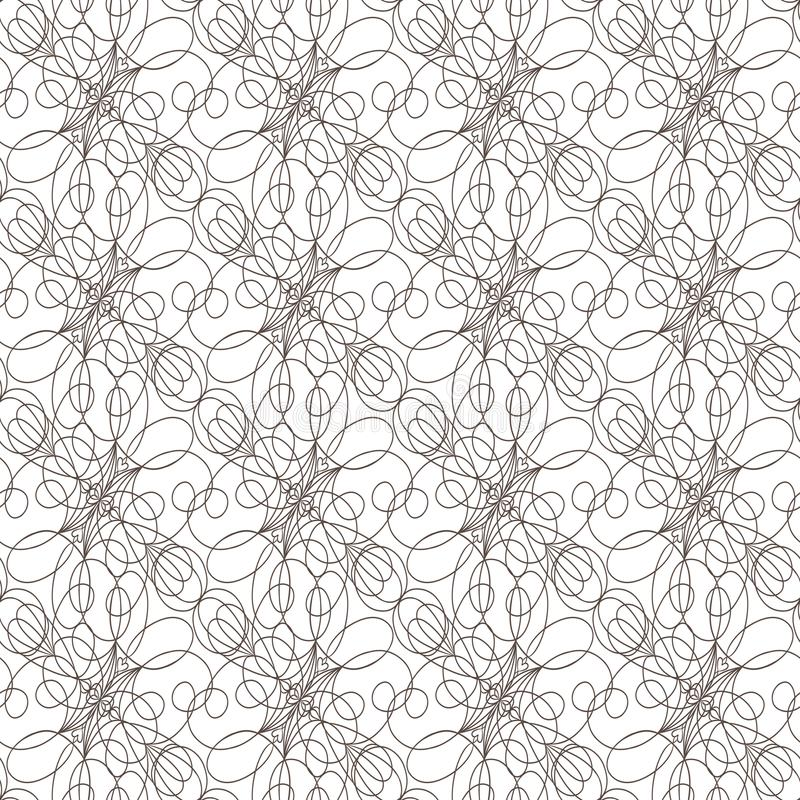 Seamless pattern with wavy lines lines on white background royalty free stock images