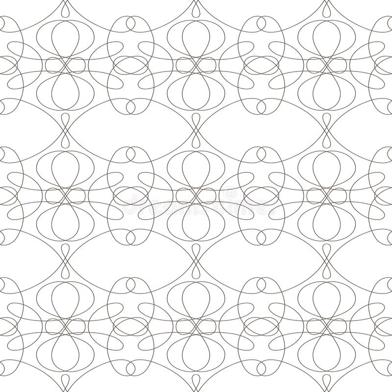 Seamless pattern with wavy lines lines on white background royalty free stock photography