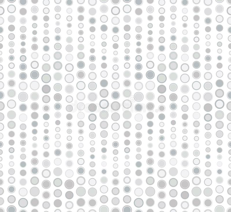 Seamless pattern on white background. Has the shape of a wave. Consists of geometric elements. In gray. stock illustration