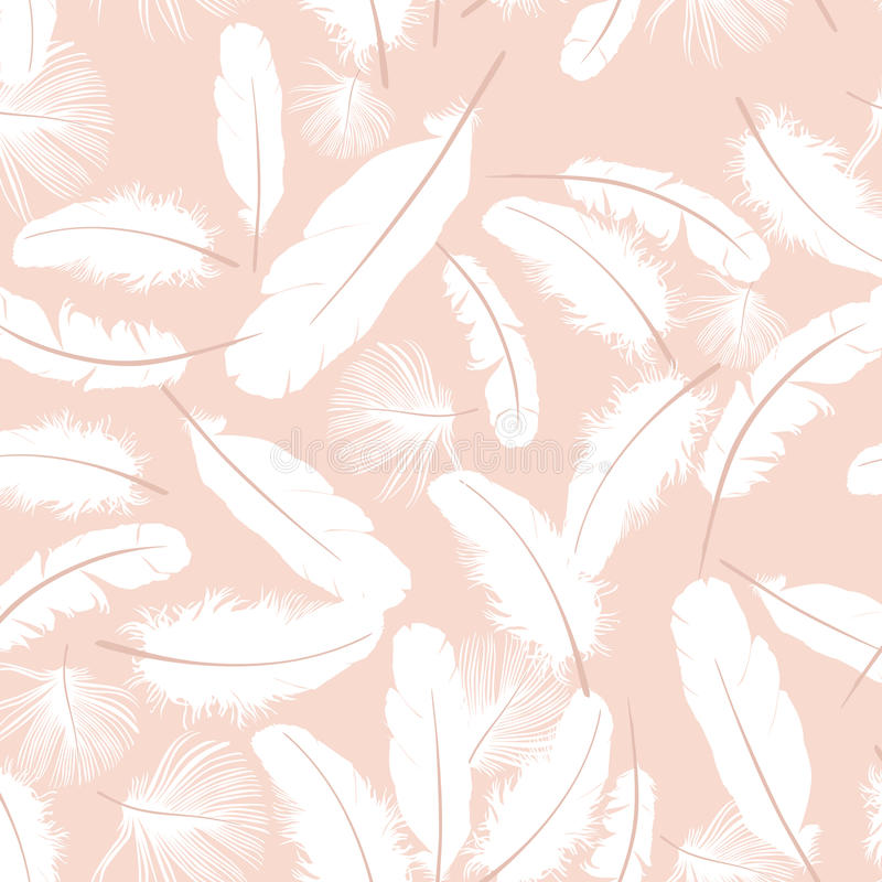 Download Seamless Pattern White Feathers Stock Photos - Image: 26121423