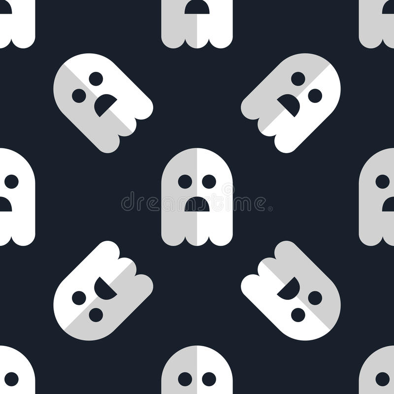 Free Seamless Pattern White Ghosts Halloween Background Royalty Free Stock Image - 49059316