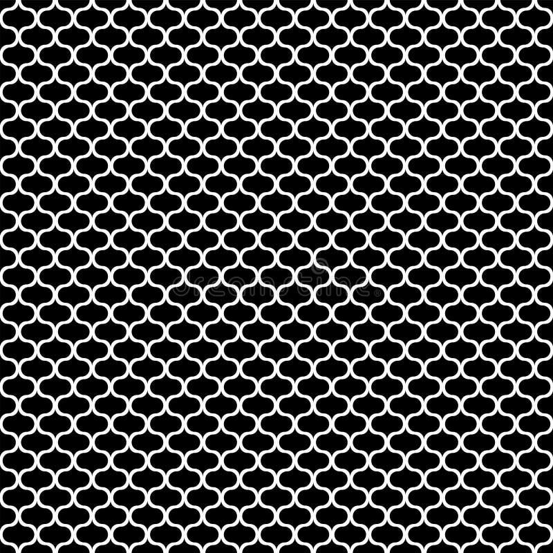 Seamless pattern. White line texture on black background vector illustration
