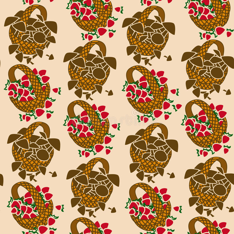 Download Seamless Pattern Of Wicker Backets Stock Vector - Illustration: 30992923