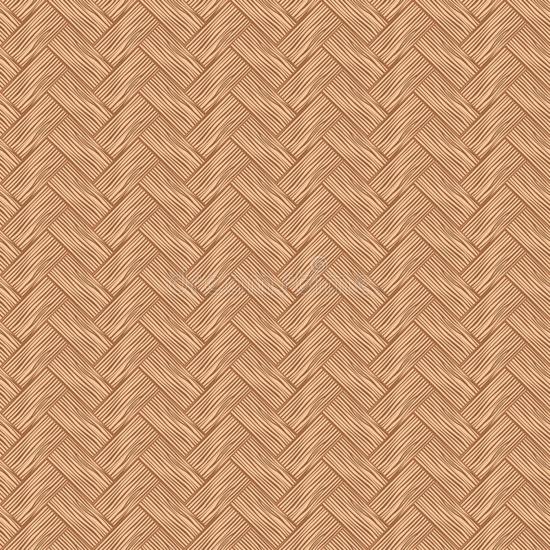 Seamless pattern wicker cherry wood color. stock illustration