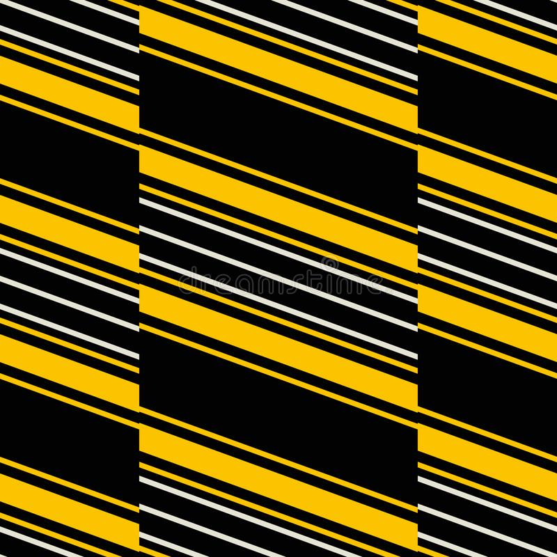 Seamless pattern of wide vertical stripes with diagonal lines in royalty free illustration