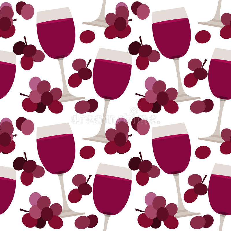 Seamless pattern with wine glasses vector illustration
