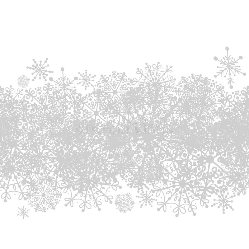 Seamless Pattern With Winter Snowflakes For Your Stock Images
