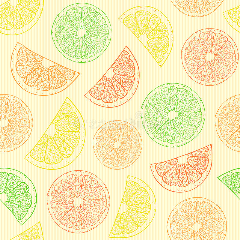 Free Seamless Pattern With Abstract Oranges Stock Photos - 27322903