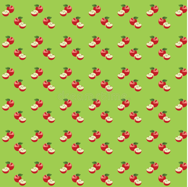 Free Seamless Pattern With Apples Royalty Free Stock Images - 17393949
