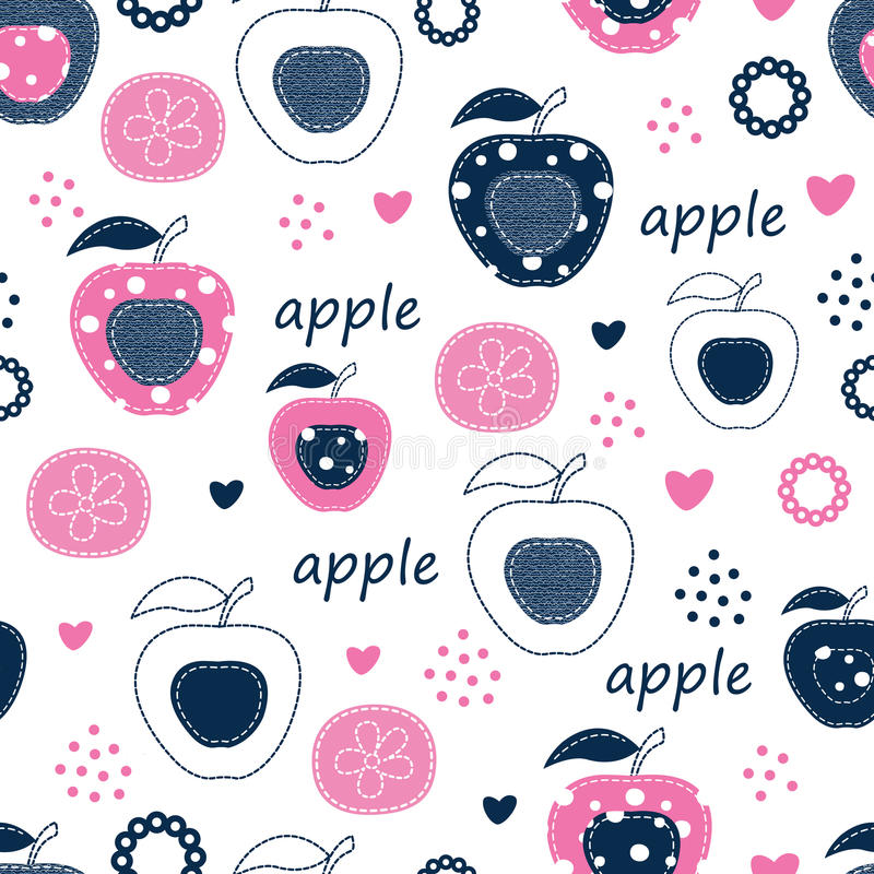 Free Seamless Pattern With Apples Stock Photography - 65923272