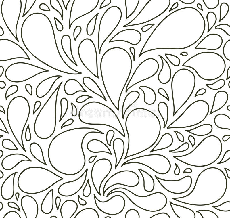 Free Seamless Pattern With Bubbles Or Drops. Black And White. Background. Royalty Free Stock Photos - 58710298