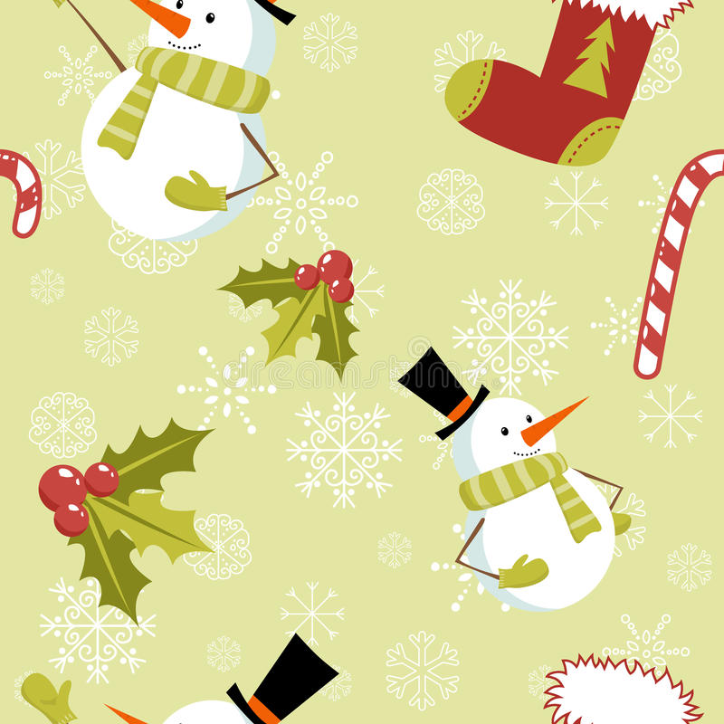 Free Seamless Pattern With Christmas Elements Stock Photo - 22299640
