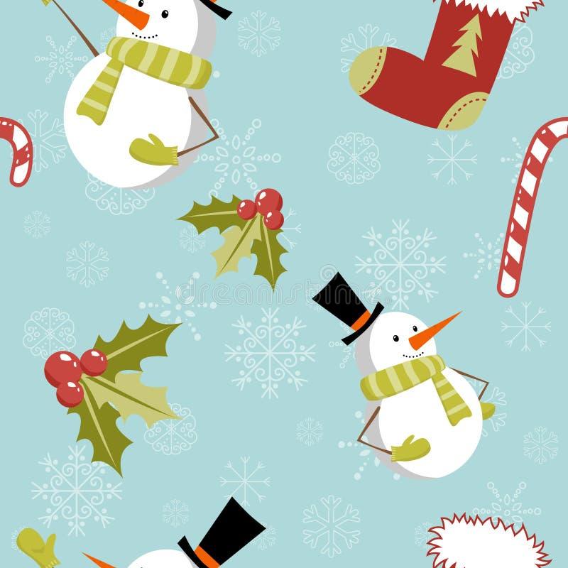 Free Seamless Pattern With Cute Cartoon Christmas Snowm Stock Image - 22300811