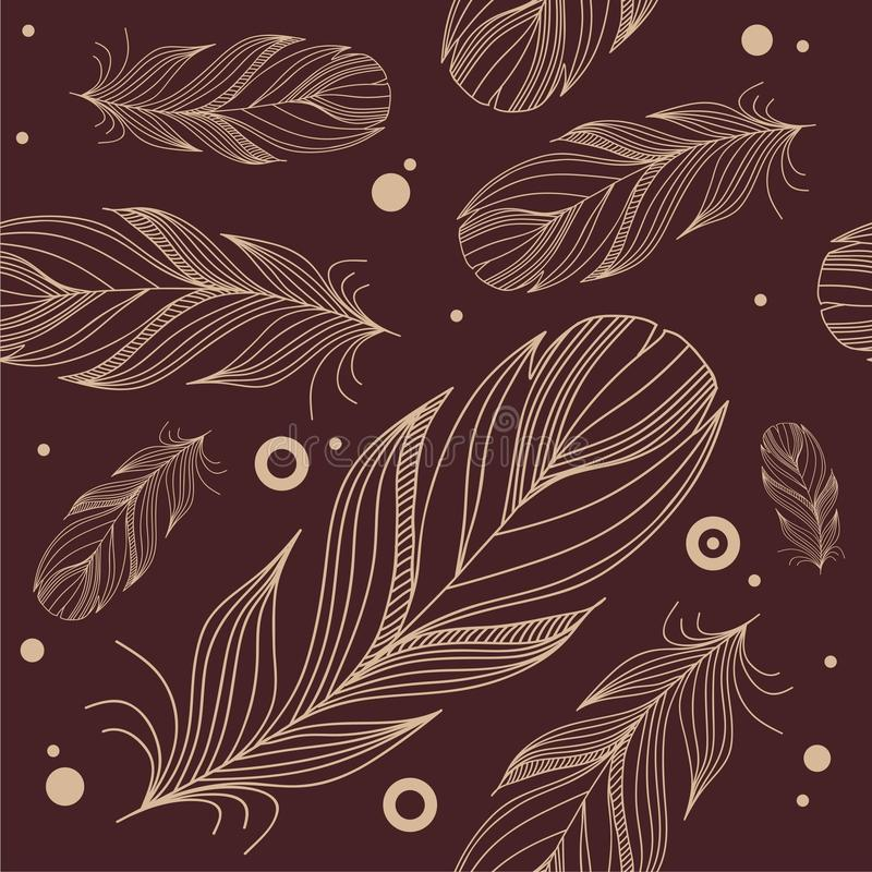 Free Seamless Pattern With Feathers Stock Photography - 36272492