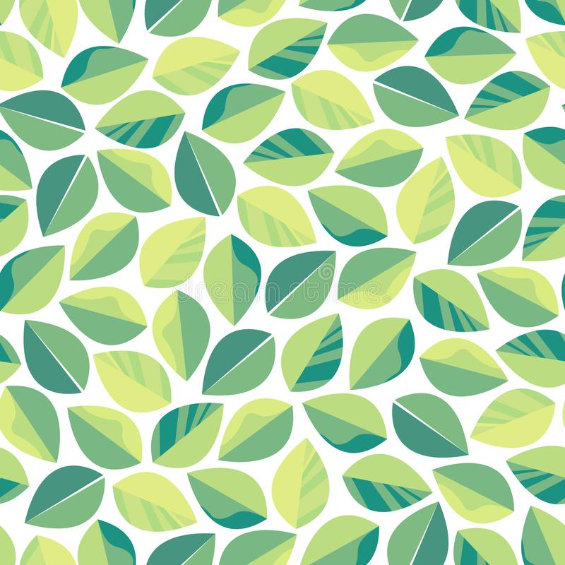 Free Seamless Pattern With Green Leaves. Texture For Cosmetics, Tea Production, Live Food, Environmental Themes. Royalty Free Stock Images - 109184659