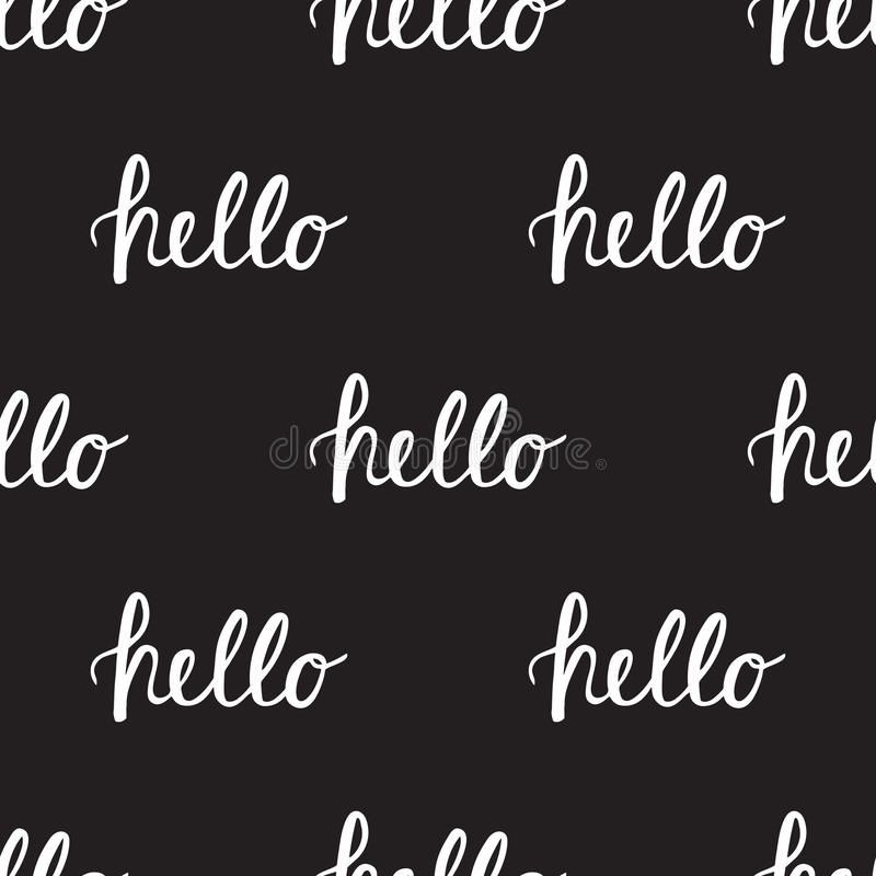 Free Seamless Pattern With Handwritten Calligraphy Stock Image - 81210621