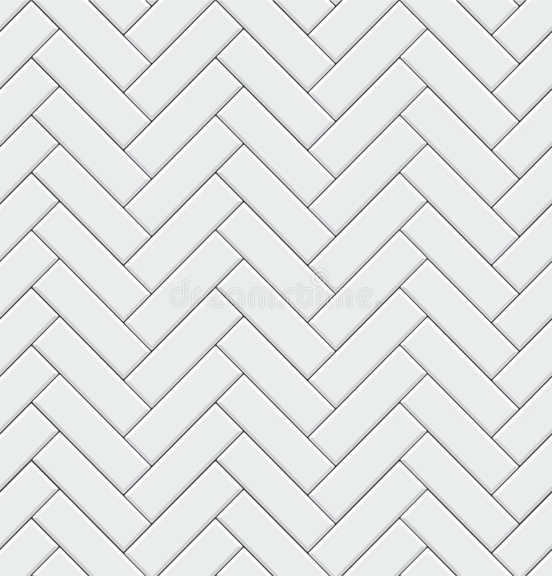 Free Seamless Pattern With Modern Rectangular Herringbone White Tiles. Realistic Diagonal Texture. Vector Illustration. Royalty Free Stock Photography - 95514947