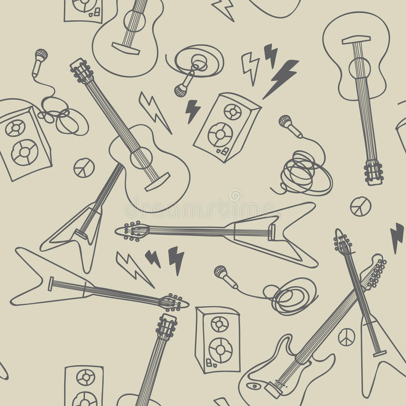 Free Seamless Pattern With Musical Instruments Royalty Free Stock Photo - 18467705
