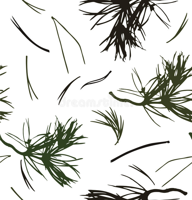Free Seamless Pattern With Pine Branches Stock Images - 64284184