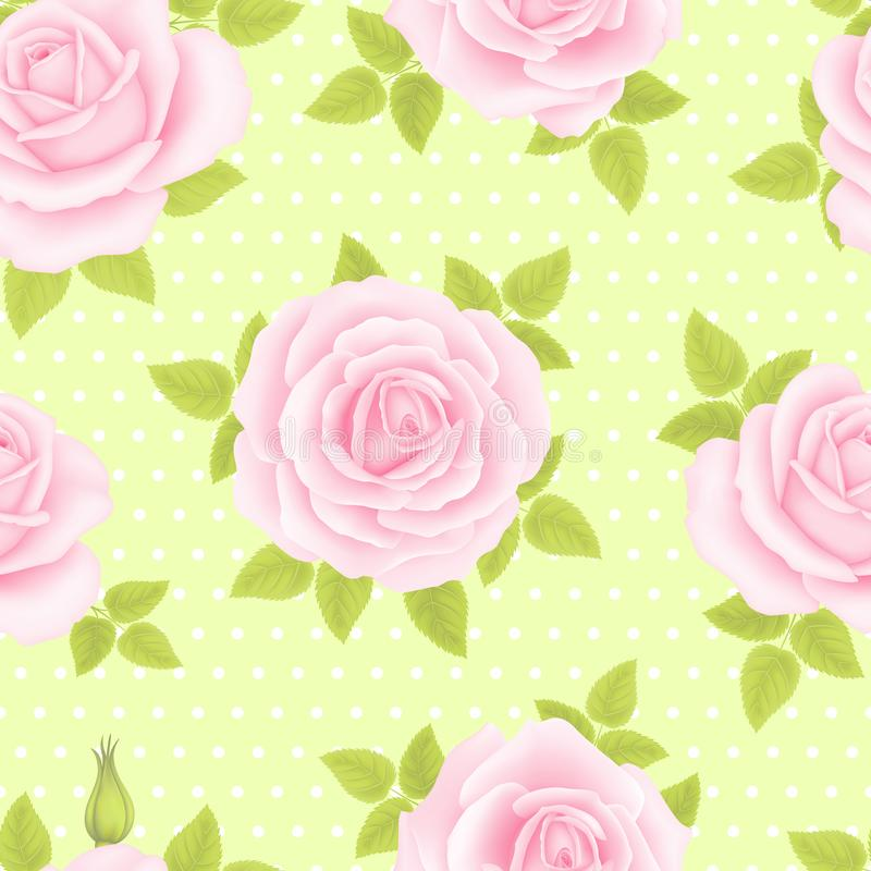 Free Seamless Pattern With Roses Stock Photo - 124734970