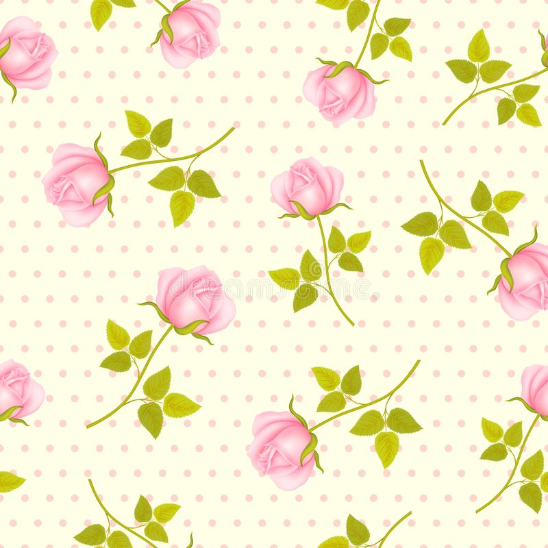 Free Seamless Pattern With Roses Stock Photo - 124735050