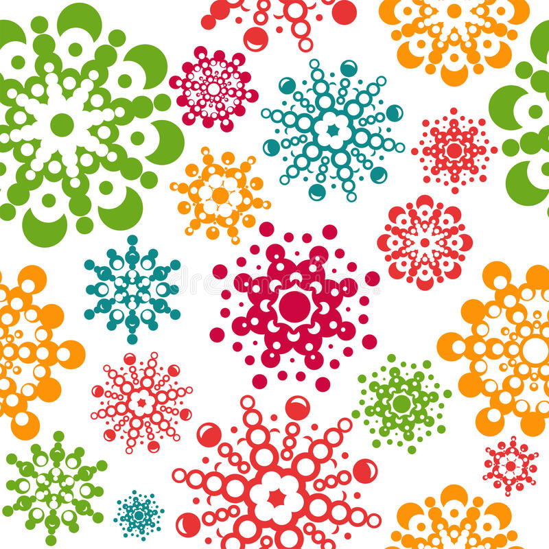 Free Seamless Pattern With Snowflakes Royalty Free Stock Image - 28498826