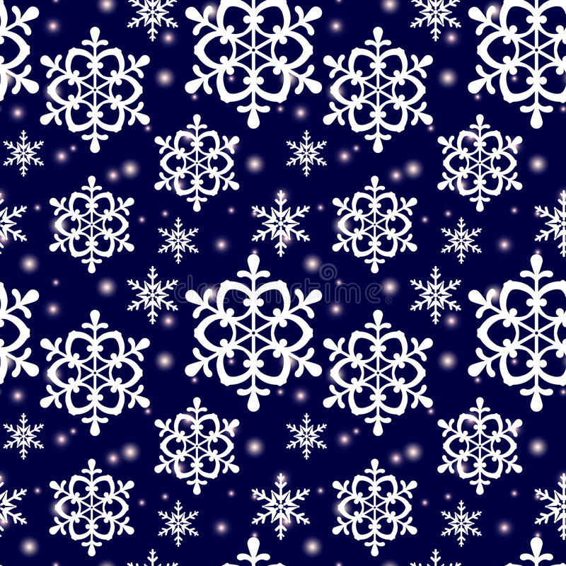 Free Seamless Pattern With Snowflakes. Vector Background. Royalty Free Stock Image - 47568366