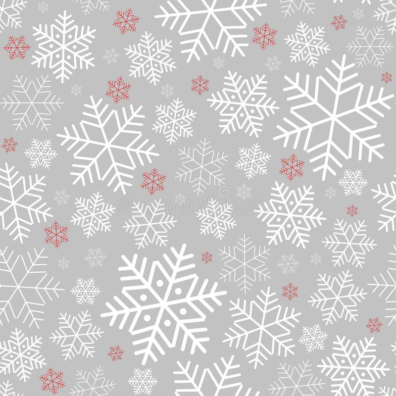 Free Seamless Pattern With Snowflakes Winter Background On New Year And Christmas Pattern For Greeting Cards Royalty Free Stock Images - 132829929