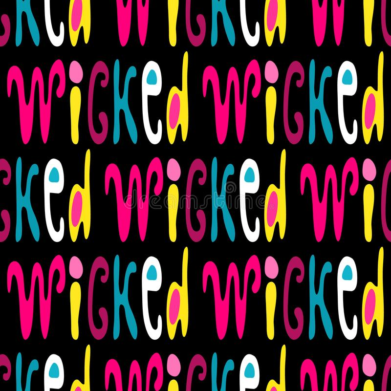 A seamless pattern of words in English in the style of graffiti. Quality vector illustration for your design vector illustration