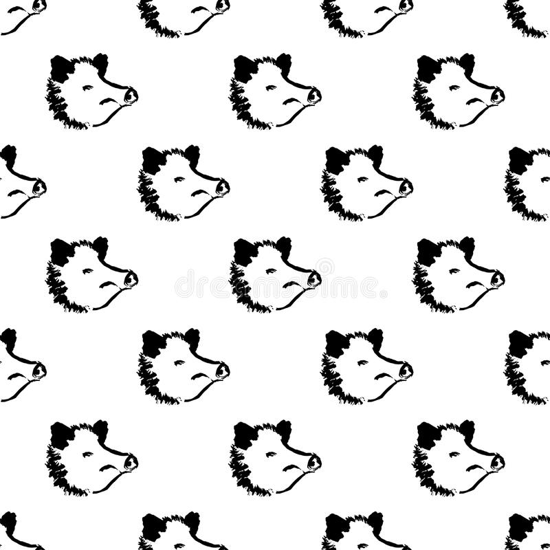 Seamless pattern year of pig stock illustration
