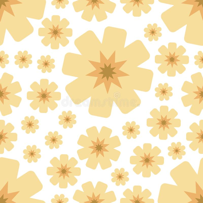 Seamless pattern with yellow flowers. stock illustration
