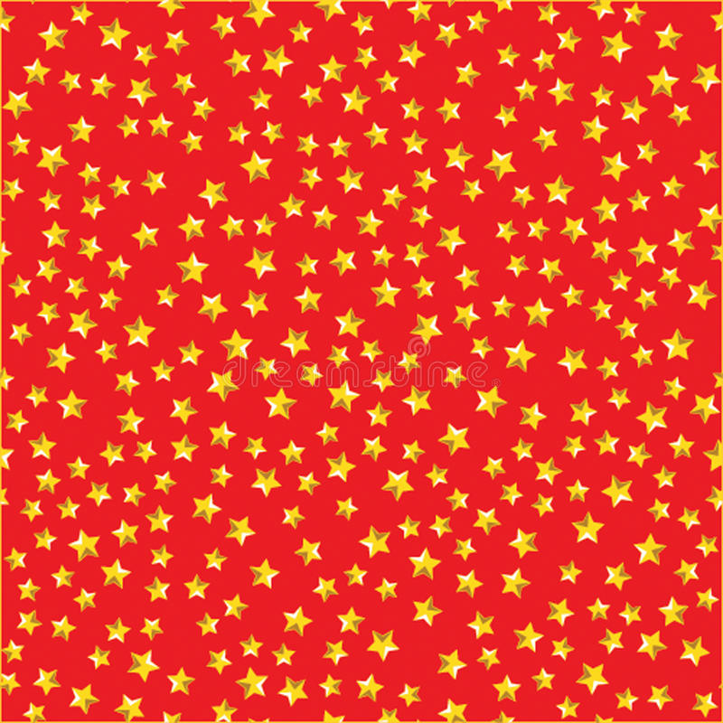Seamless pattern with yellow stars on red background stock photos