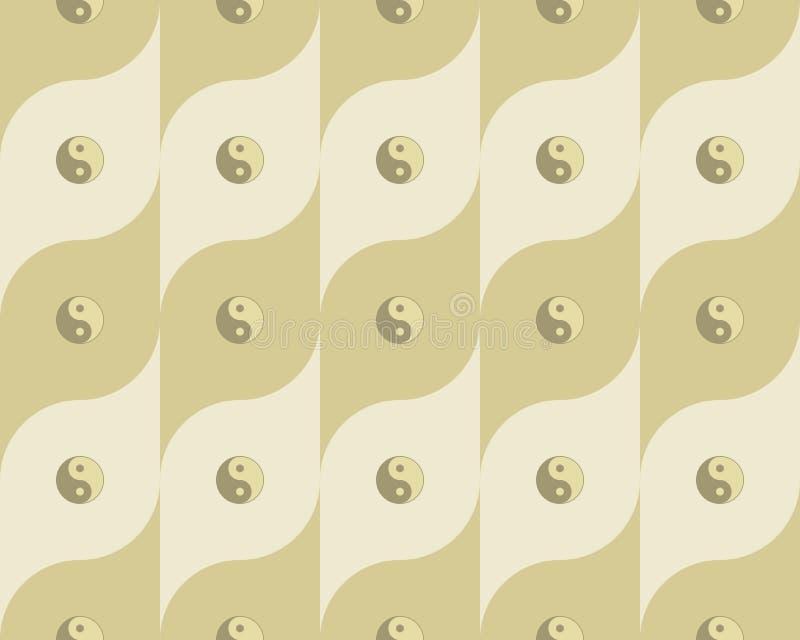 Pattern with yin yang symbols
