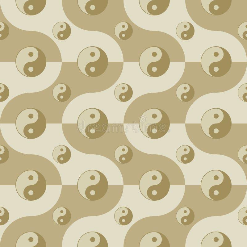 Download Pattern With Yin Yang Symbols Royalty Free Stock Photos - Image: 29798178