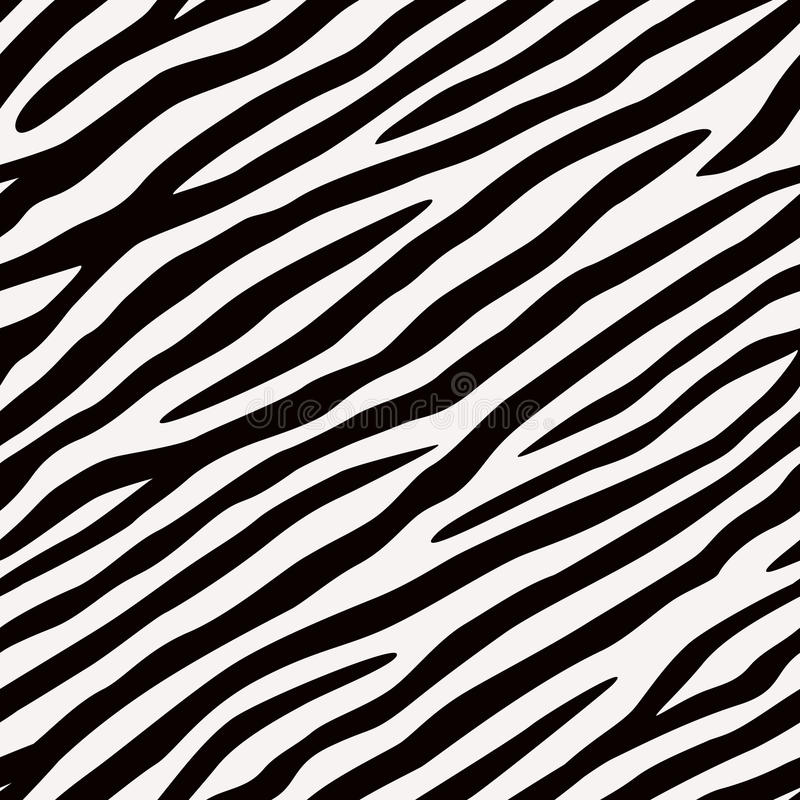 Seamless pattern Zebra. Black and white colors. royalty free illustration