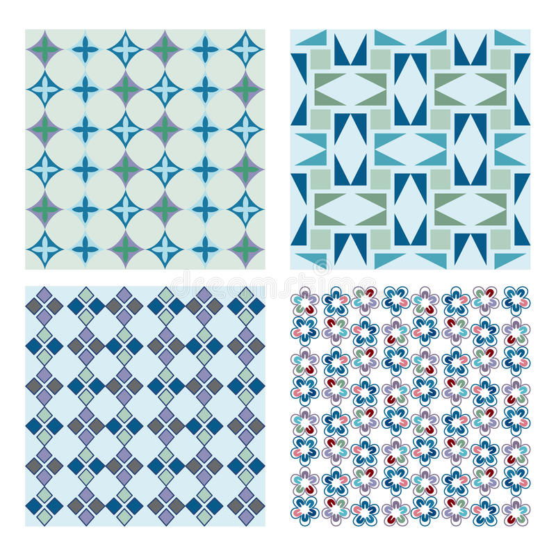 Seamless patterns stock illustration