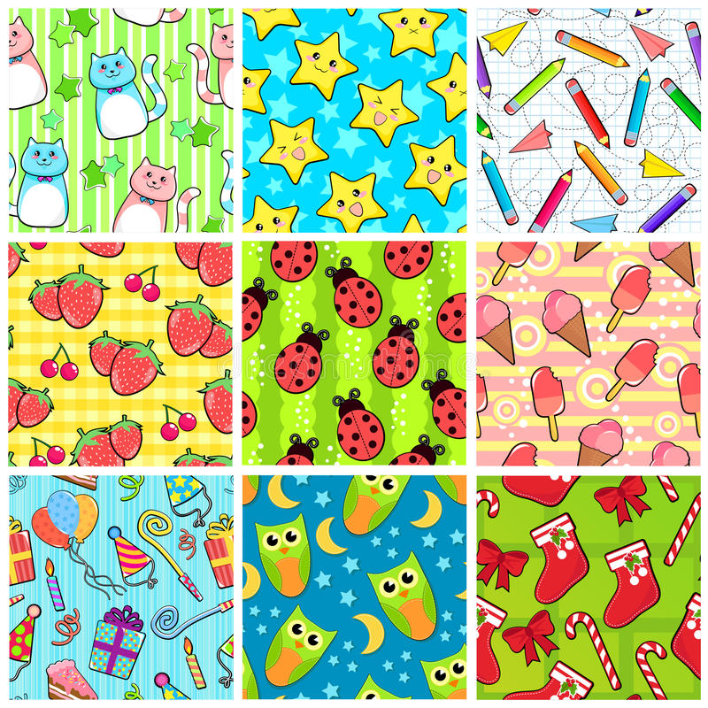 Download Seamless patterns stock vector. Illustration of background - 22545549