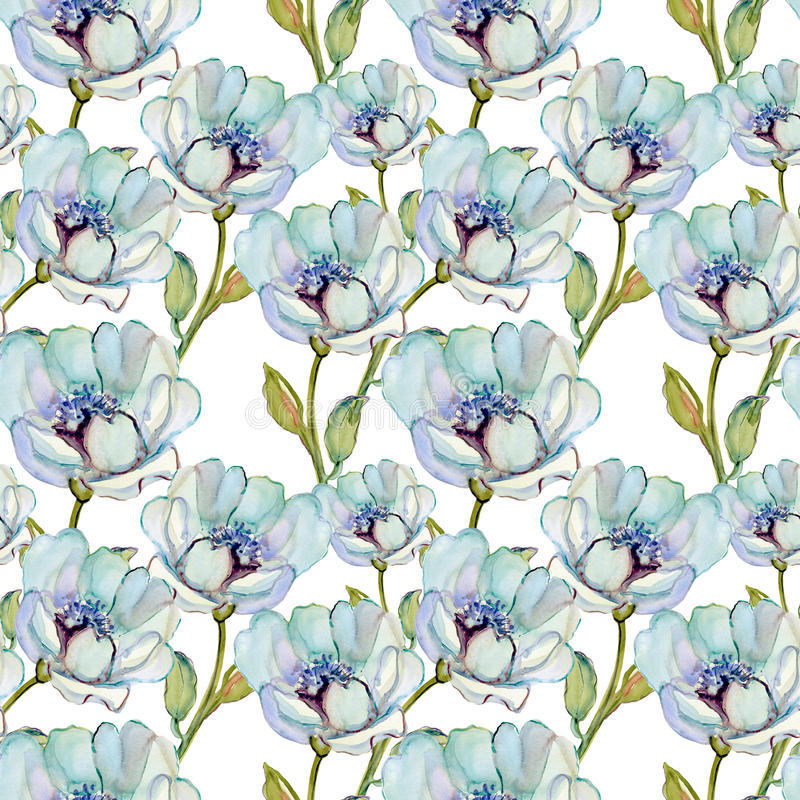 Seamless patterns with Beautiful flowers royalty free illustration