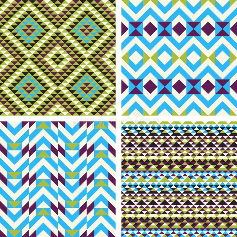 Seamless patterns stock illustration