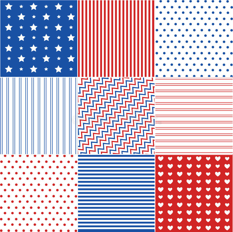 Download Seamless Patterns With Fabric Texture Stock Vector - Image: 25702301