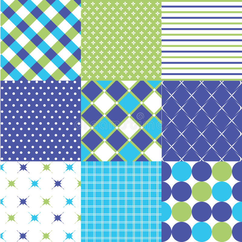 Download Seamless Patterns With Fabric Texture Stock Vector - Image: 30453546