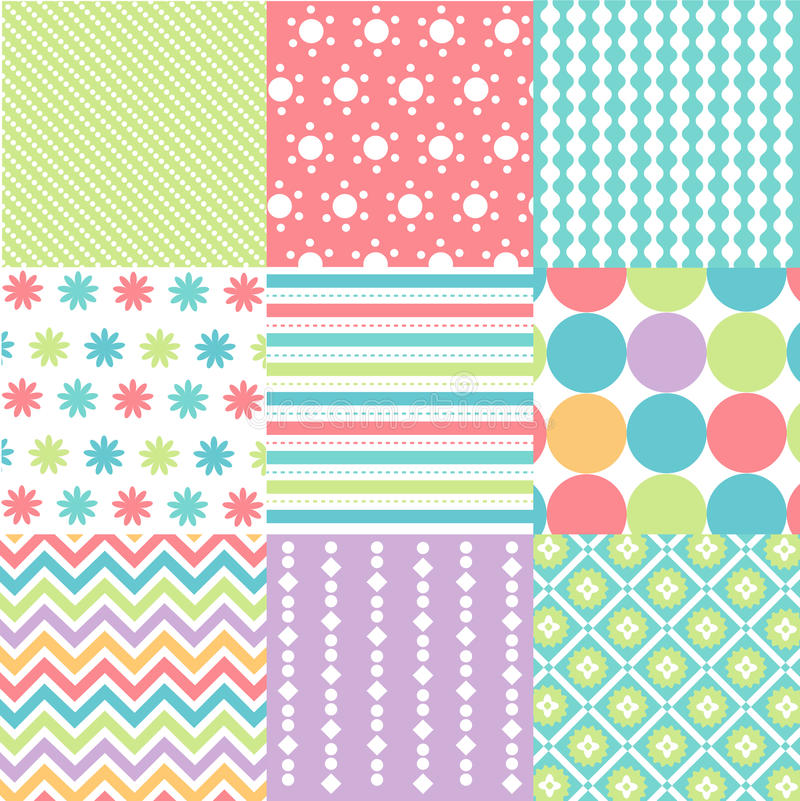 Download Seamless Patterns With Fabric Texture Stock Photo - Image: 31874808