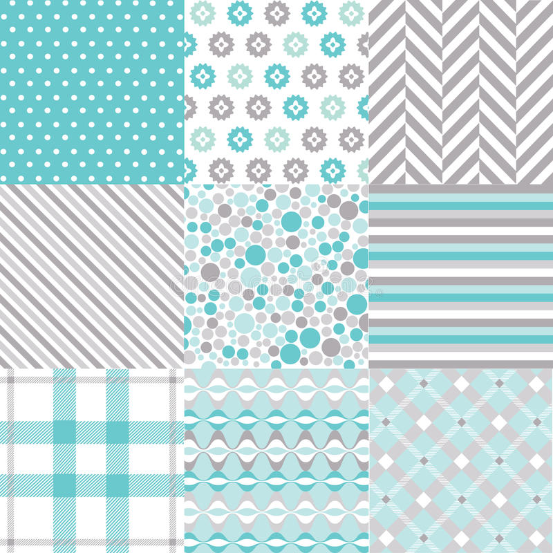 Download Seamless Patterns With Fabric Texture Stock Image - Image: 31874825