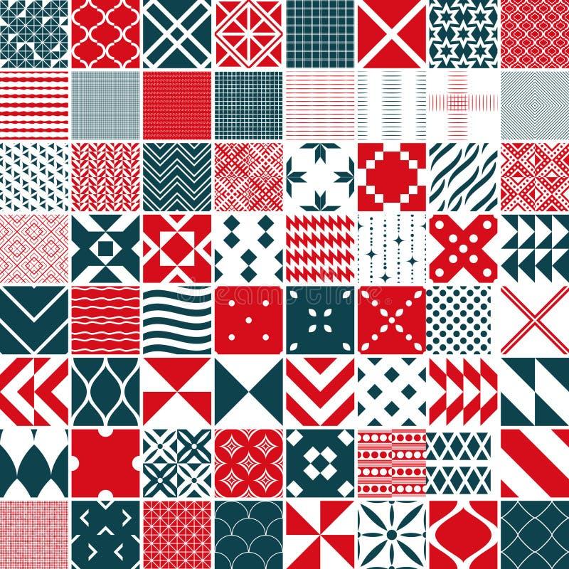 Seamless 64 patterns royalty free illustration